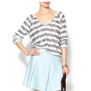 Sanctuary Anthropologie Striped V-Neck Sweater